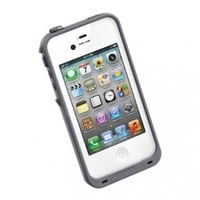 LifeProof FRE iPhone 4/4s Waterproof Case - Retail Packaging - WHITE/GREY