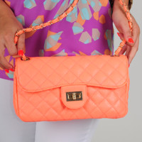 We Carry On Purse: Neon Coral