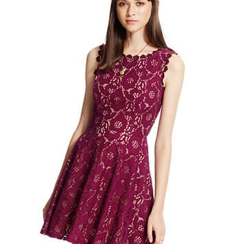 City Studios Juniors' Lace Fit & Flare Dress | macys.com