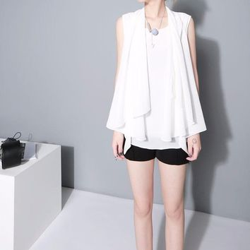 Aquilina Cape Wing Top - White