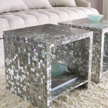 Bernhardt - Abalone Side Table - Horchow