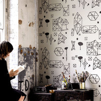 Switched On Set: Random Geometry Wallpaper by Nama Rococo
