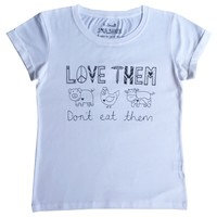 Love Animals T-shirt White