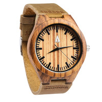 Wooden Watch // Zebrawood 41