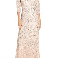 Adrianna Papell Sequin Mesh Gown | Nordstrom