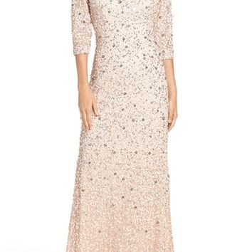Adrianna Papell Sequin Mesh Gown   Nordstrom