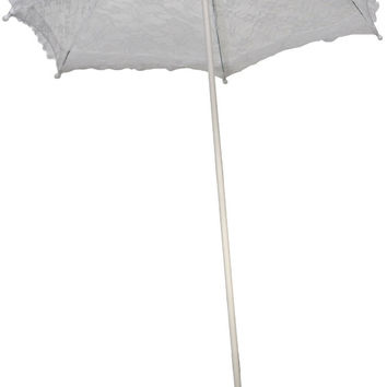 costume accessory: parasol lace ruffle | white