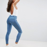 ASOS Pull on Jeggings in Maisy Mid Wash Blue at asos.com