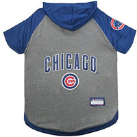 Pets First MLB Chicago Cubs Pet Hoodie Tee Shirt, Small