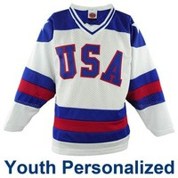 Miracle on Ice® 1980 Replica Personalized Home Jersey - Youth - ShopUSAHockey.com