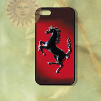 Ferrari Car -iPhone 5, 5s, 5c, 4s, 4, ipod touch 5, Samsung GS3 GS4-Silicone Rubber or Hard Plastic Case, Phone cover