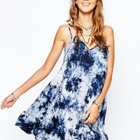 Missguided Tie Dye Printed Strappy Swing Dress
