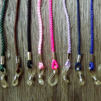 5 Eyeglasses Leash Ropes, U PICK 5, Vintage Woven String Eyeglass Chain Cord Lanyard, Sunglass Rope, Eyewear Accessory