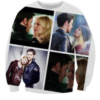 Emma And Hook Sweatshirt once Upon A Time