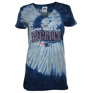 New England Patriots - Super Bowl Champions Juniors Spiral Tie Dye T-Shirt