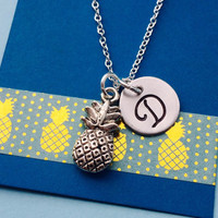 Pineapple Necklace, Pineapple Charm, Pineapple Jewelry, Best Friends Necklace, Sister Necklace, Fruit Necklace