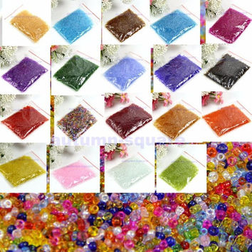 Hot Sale 19 Colors 2mm Czech Glass Seed Spacer Beads Jewelry Making DIY Pick 1500Pcs Pack