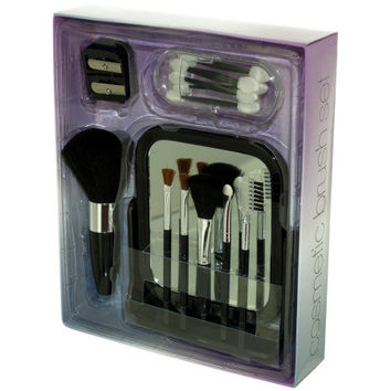 Cosmetic Brush Set with Vanity Mirror ( Case of 6 )