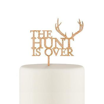 The Hunt Is Over Cake Topper - Maple Laminate (Pack of 1)