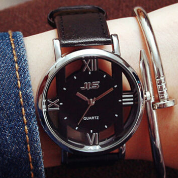 Unisex Hollow Out Watch Gift 492