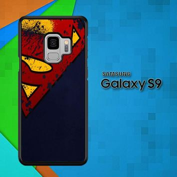 Dc Comics Superman Distressed Emblems V0089 Samsung Galaxy S9 Case
