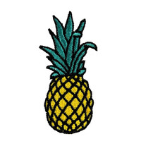 """2.8""""  Cute tropical fruit pineapple Embroidered applique Iron on patch sew on motif"""