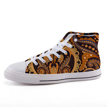 Unisex Canvas Shoes, Personalized Custom Print Shoes, High Cut Canvas Shoes, Fashion Casual Shoes, Personalized Sneakers