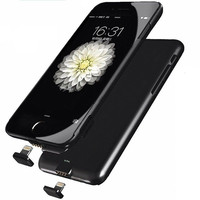 IPhone 7 External Battery Backup Case Charger Power Bank 1500mAh Black