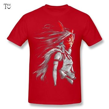 3D Print Princess Mononoke T Shirt Fashion Summer Japanese Anime Miyazaki Hayao Stylish T Shirt O-neck Custom Big Size T-shirt