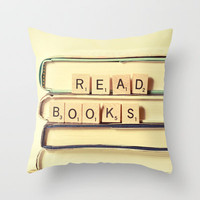 Read Books Throw Pillow by Olivia Joy StClaire