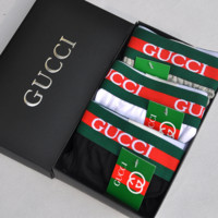 GUCCI Fashion new letter print embroidery bee underpants men Three color