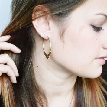 Progression Hoops, Hoop Earrings, Silver Hoops, Gold Hoops, Statement Earrings