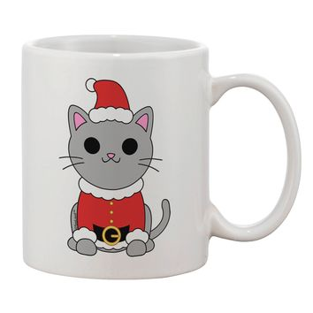 Mr. Whiskerton Santa Suit - Christmas Printed 11oz Coffee Mug by TooLoud