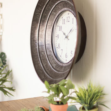 Wall Clock with Metal Ring Frame