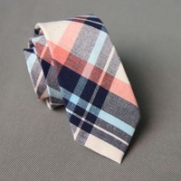 Striped Blue, Pink, Cream Necktie
