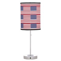 American flag pattern Table Lamp