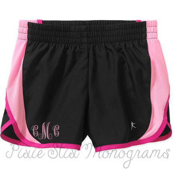 Girls Monogrammed Athletic Running Shorts- New colors - Cheer - Valentine Gift- Spring Break
