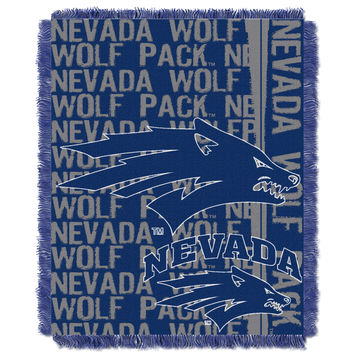Nevada Reno College 48x60 Triple Woven Jacquard Throw - Double Play Series