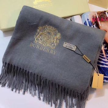PEAPON Burberry Women Fashion Embroidery Cashmere Warm Cape Scarf Scarves