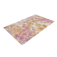 "Marianna Tankelevich ""Retro Summer"" Yellow Pink Woven Area Rug"