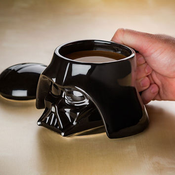Star Wars coffee mug Cup Stormtrooper Helmet & Darth Vader Helmet Mug 3D Ceramic Coffee Tea Cup With Removable Lid Black/ White