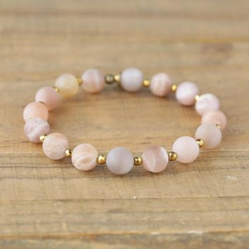 Joy - Matte Genuine Sunstone Bracelet