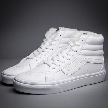 vans sk8 hi leather warm cotton old skool flats sneakers sport shoes