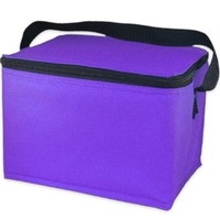 EasyLunchboxes Insulated Lunch Box Cooler Bag, Purple