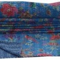 Hand Stitched and Hand Sewn India Kantha Quilts