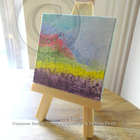 Mini Oil Painting Abstract Oil Painting With Mini Easel Original Oil Painting Small Oil Painting Mini Painting Canvas Art Desk Art OOAK