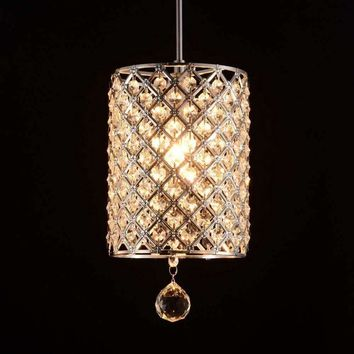 Modern Chandelier Ceiling Lamp Pendant Light Round K9 Crystal Lamp Fixture lighting Cafe Bar Hall Bedsie