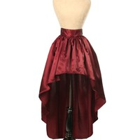 Daisy Corsets Wine Satin High Low Skirt