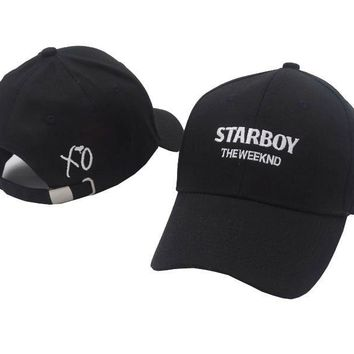 Rare The Weeknd XO Popular Fashion Baseball Dad Hat Starboy Cap men and women leisure hats CASQUETTE cap snapback caps