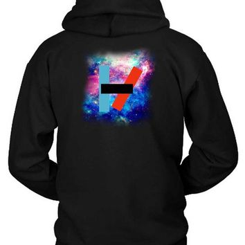 DCCKG72 Twenty One Pilots Logo In Space Hoodie Two Sided